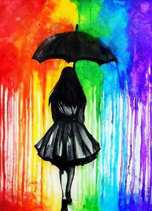 Картинки красками для девочек