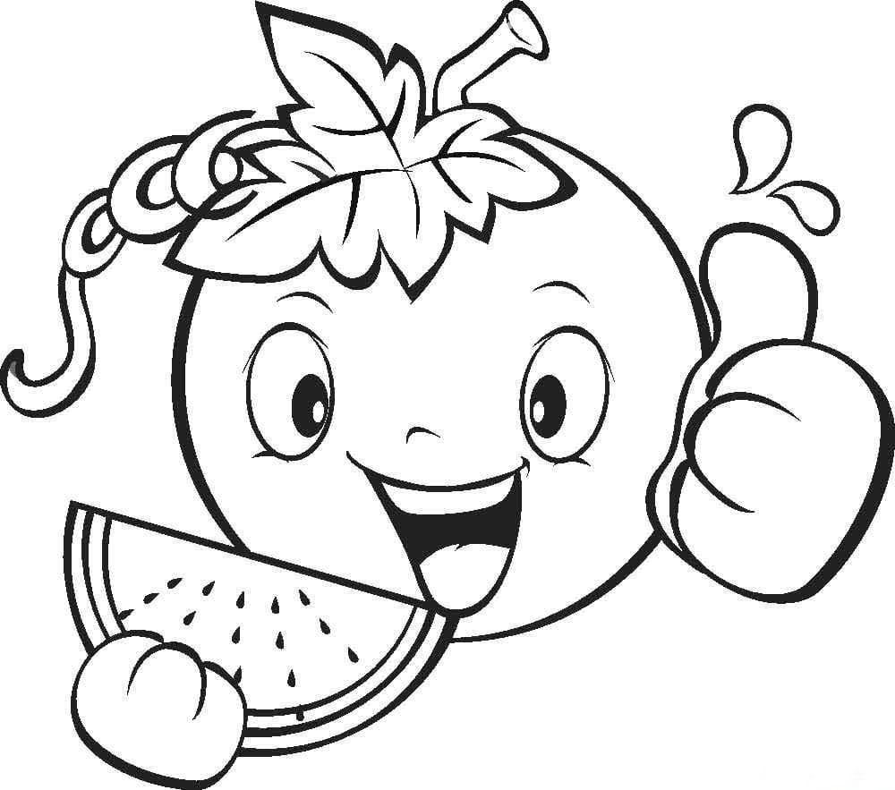 Смешные овощи и фрукты картинки для детей распечатать для раскраски