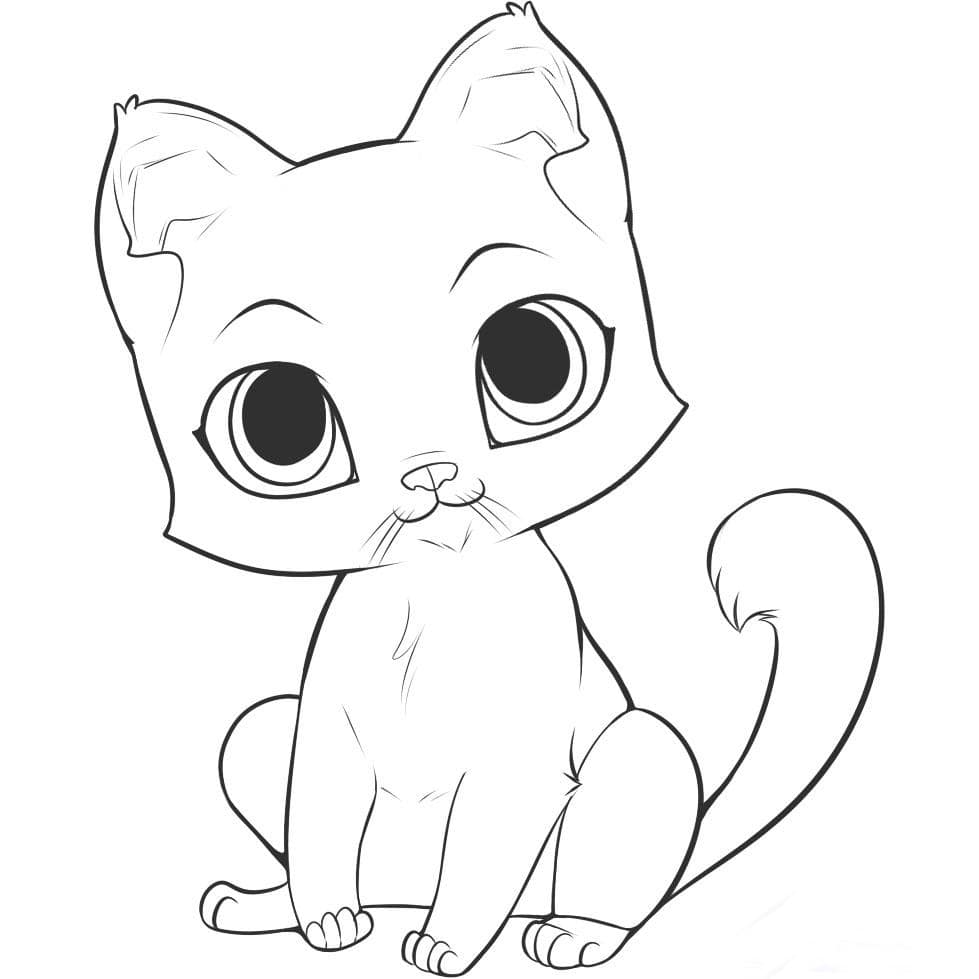 Картинки котиков для срисовки