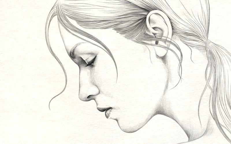 Рисунки карандашом для срисовки - девушки