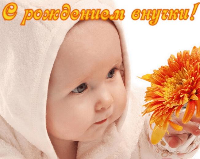 поздравить знакомых с рождением внучки