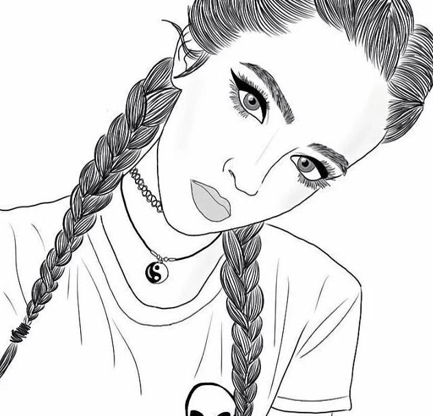 Черно-белые картинки для срисовки карандашом