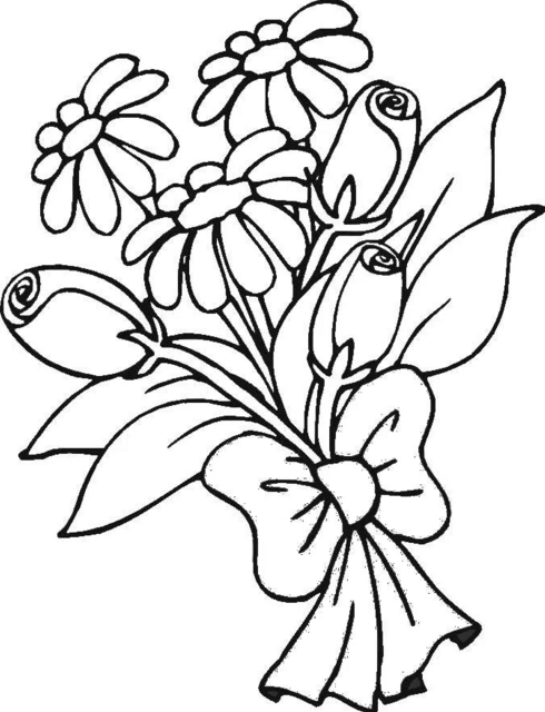 Цветы маме картинки карандашом, надписью наташа