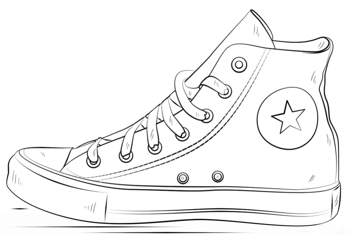 Картинки для срисовки красивые легкие и прикольные обувь