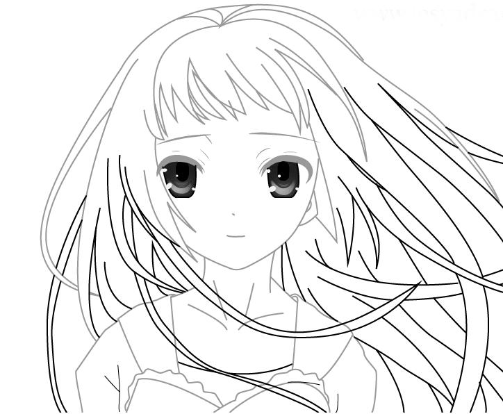 Картинки аниме девушек для срисовки