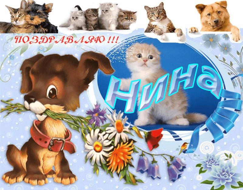 Поздравительные открытки для нины с днем рождения, открытки надписью спасибо