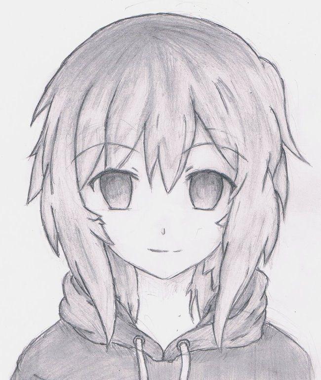 Аниме рисунки для срисовки карандашом для начинающих