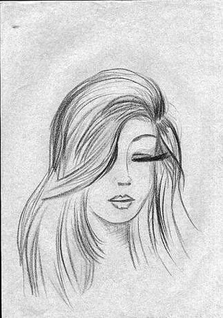 """Легкие рисунки """"милые девушки"""" для срисовки карандашом"""